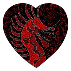 Red dragon Jigsaw Puzzle (Heart)