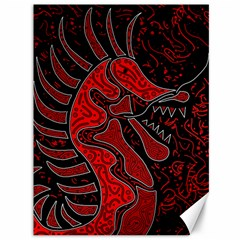 Red dragon Canvas 36  x 48