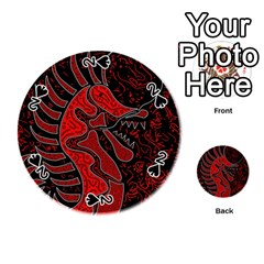 Red dragon Playing Cards 54 (Round)