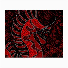 Red dragon Small Glasses Cloth (2-Side)