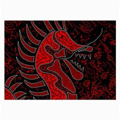 Red dragon Large Glasses Cloth