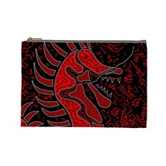 Red dragon Cosmetic Bag (Large)