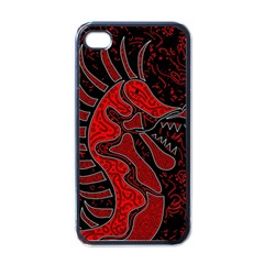 Red dragon Apple iPhone 4 Case (Black)