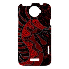 Red dragon HTC One X Hardshell Case