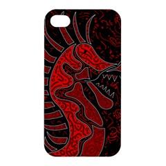 Red dragon Apple iPhone 4/4S Premium Hardshell Case