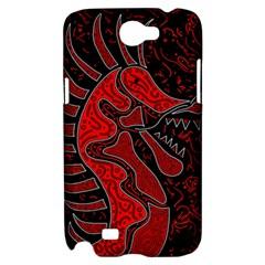 Red dragon Samsung Galaxy Note 2 Hardshell Case
