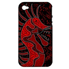 Red dragon Apple iPhone 4/4S Hardshell Case (PC+Silicone)