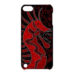 Red dragon Apple iPod Touch 5 Hardshell Case with Stand
