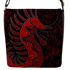 Red dragon Flap Messenger Bag (S)