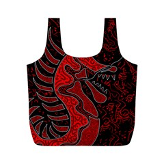 Red dragon Full Print Recycle Bags (M)