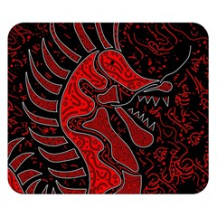 Red dragon Double Sided Flano Blanket (Small)