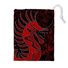 Red dragon Drawstring Pouches (Extra Large)
