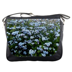 Blue Forget Me Not Flowers Messenger Bags