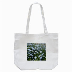 Blue Forget-me-not flowers Tote Bag (White)