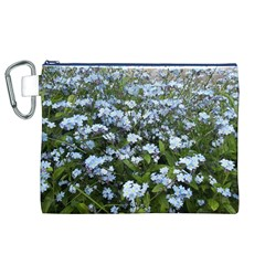 Blue Forget-me-not flowers Canvas Cosmetic Bag (XL)