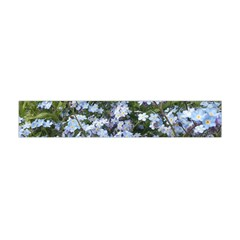 Little Blue Forget Me Not Flowers Flano Scarf (mini)