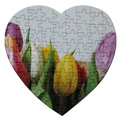 Colorful bouquet Tulips Jigsaw Puzzle (Heart)