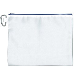 White color design Canvas Cosmetic Bag (XXXL)