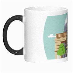 Paris France French Europe Travel Morph Mugs