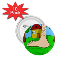 Giant foot 1.75  Buttons (10 pack)