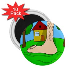 Giant foot 2.25  Magnets (10 pack)