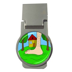 Giant foot Money Clips (Round)
