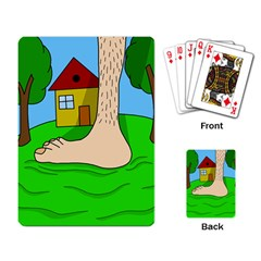 Giant foot Playing Card