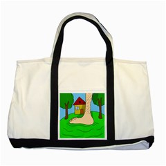 Giant foot Two Tone Tote Bag