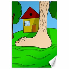 Giant foot Canvas 20  x 30