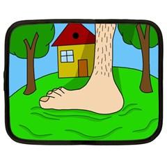 Giant foot Netbook Case (XXL)