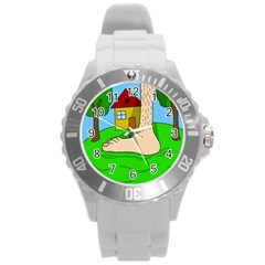 Giant foot Round Plastic Sport Watch (L)