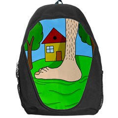 Giant foot Backpack Bag