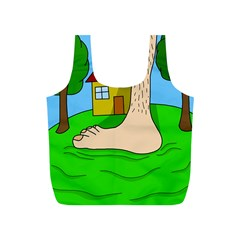 Giant foot Full Print Recycle Bags (S)