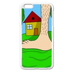 Giant foot Apple iPhone 6 Plus/6S Plus Enamel White Case