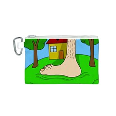 Giant foot Canvas Cosmetic Bag (S)