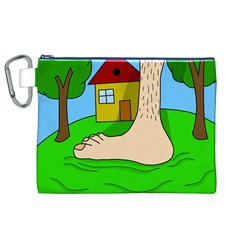 Giant foot Canvas Cosmetic Bag (XL)