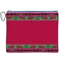Pattern Ornaments Mexico Cheerful Canvas Cosmetic Bag (XXXL)
