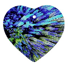Colorful Floral Art Ornament (Heart)