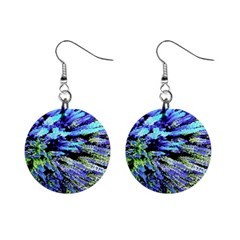 Colorful Floral Art Mini Button Earrings