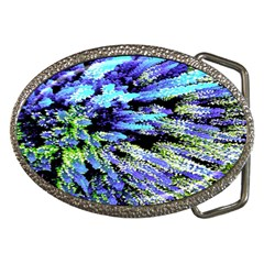 Colorful Floral Art Belt Buckles