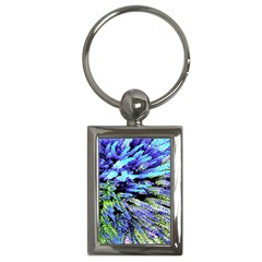 Colorful Floral Art Key Chains (Rectangle)