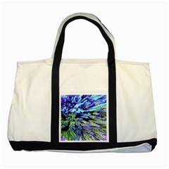 Colorful Floral Art Two Tone Tote Bag