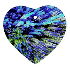 Colorful Floral Art Heart Ornament (2 Sides)