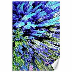 Colorful Floral Art Canvas 12  x 18