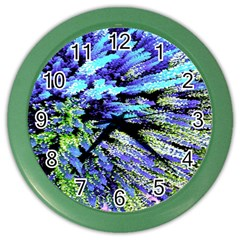 Colorful Floral Art Color Wall Clocks