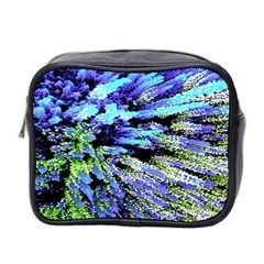 Colorful Floral Art Mini Toiletries Bag 2-Side