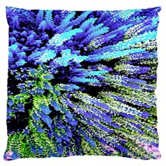 Colorful Floral Art Large Cushion Case (Two Sides)