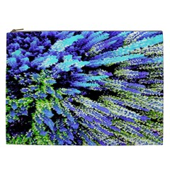 Colorful Floral Art Cosmetic Bag (XXL)