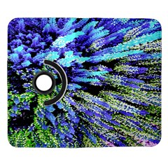 Colorful Floral Art Samsung Galaxy Note II Flip 360 Case