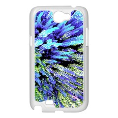 Colorful Floral Art Samsung Galaxy Note 2 Case (White)